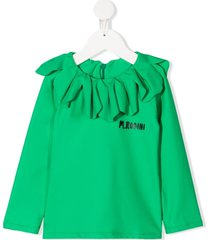 mini rodini strawberry-effect uv swim top - green