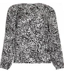 blouse met print tarmony  zwartwit