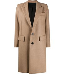 ami sinlge-breasted mid-length coat - neutrals