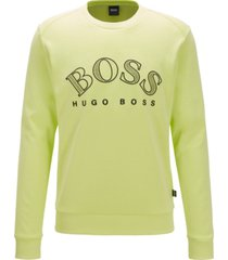 boss men's salbo cotton-blend sweatshirt