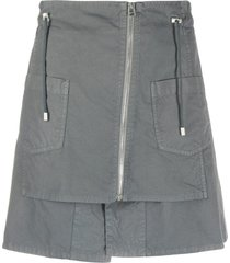mr & mrs italy mini skirt with zippers
