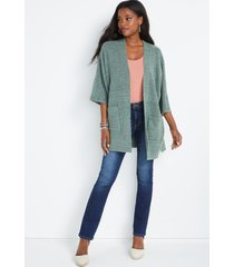 maurices womens solid oversized cardigan green
