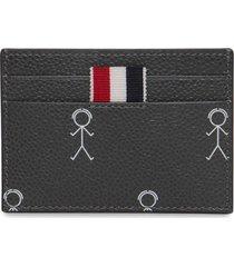 mr. thom icon print single card holder dark grey