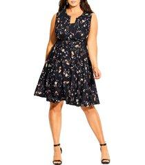 plus size women's city chic mini vine belted dress