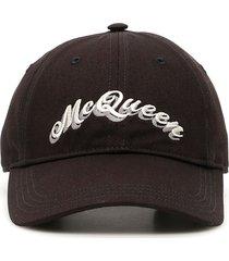 double logo baseball cap