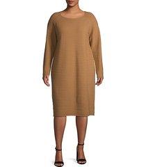 plus ribbed wool dress