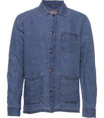 ethan lt shirt jacket skjorta casual blå morris
