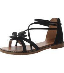 moda mujer pisos sandalias zapatos de flores dulces zapatos de tacón