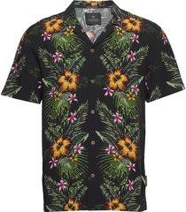 hawaii fit- shorstleeve shirt with hawaiian flower print kortärmad skjorta multi/mönstrad scotch & soda