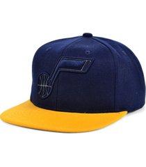 mitchell & ness utah jazz 2-team reflective snapback cap