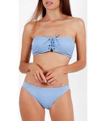 bikini admas 2-delig bandeau bikiniset smock swim blauw