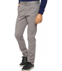 pantalón chino a/orgánico gris claro tommy hilfiger