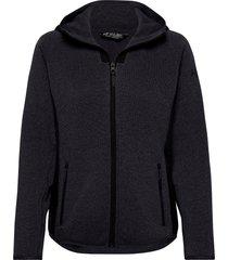 w varde hooded fleece jacket sweat-shirts & hoodies fleeces & midlayers svart helly hansen
