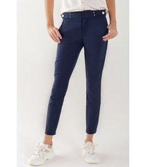 pantalón skinny apliques metálicos