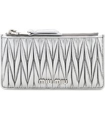 miu miu quilted card holder pouch