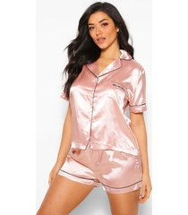 it was all a dream satijnen pyjama shorts set, roségoud