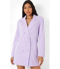 tall oversized getailleerde blazer jurk, violet