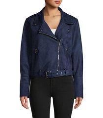 full-zip belted jacket
