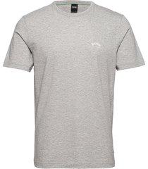 tee curved t-shirts short-sleeved grå boss