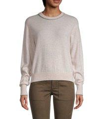 crewneck wool & cashmere-blend pullover