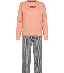 set ls print pyjama roze tommy hilfiger