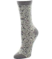 natori gobi textile socks, women's, brown natori