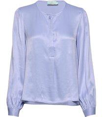 ines blouse blouse lange mouwen blauw morris lady