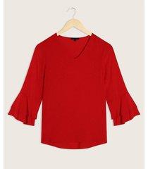 blusa manga 3/4 con vuelo en puño