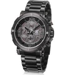 reloj de hombre t5 pulso acero h3640g-c - negro
