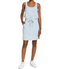 women's laila ali stripe tank dress, size large - blue