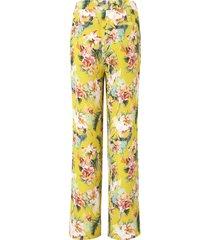 broek pasvorm cornelia met bloemenprint van peter hahn multicolour