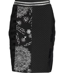 fal craig knälång kjol svart desigual