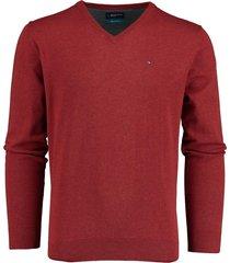 bos bright blue vince v-neck pullover flat kn 20305vi01bo/677 wine red