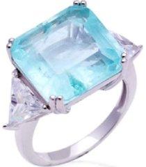 anel fusion turmalina com cristais em prata 925
