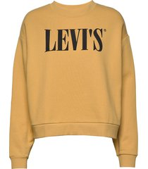 graphic diana crew crew t2 90s sweat-shirt trui geel levi´s women