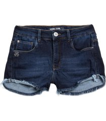 shorts john john boy sutton moletom jeans azul feminino (jeans escuro, 50)