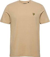 crew neck t-shirt t-shirts short-sleeved beige lyle & scott