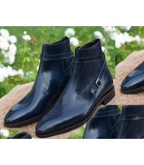 new men's handmade jodhpurs navy blue boots, jodhpurs dress formal boots