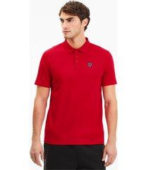 scuderia ferrari short sleeve poloshirt voor heren, rood/aucun, maat xs   puma