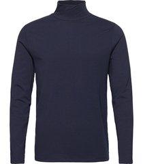 turtle neck tee l/s t-shirts long-sleeved blå lindbergh