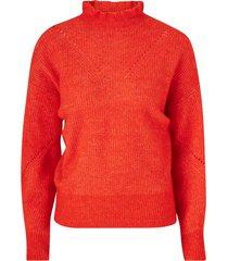tröja slfinga ls knit frill-neck b