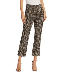 joie women's sharma animal print ankle pants - biscotti - size 23 (00)