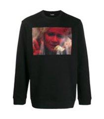 raf simons camiseta com estampa fotográfica - preto