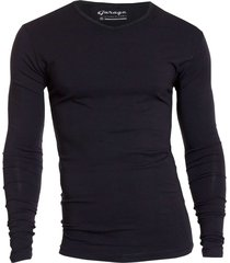 bodyfit t-shirt v-neck l/s black