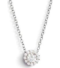 women's nordstrom cubic zirconia halo pendant necklace
