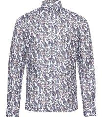 8543 - iver overhemd business multi/patroon sand