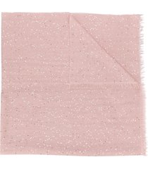 brunello cucinelli long sequinned scarf - pink