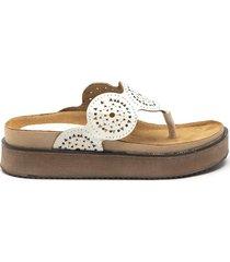 sandalia blanca albany