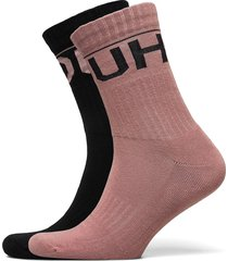 2p qs rib logo cc underwear socks regular socks rosa hugo