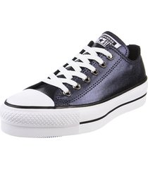 zapatilla  negra  converse  chuck taylor all star lift met
